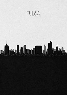 Digital Art - Tulsa Cityscape Art by Inspirowl Design