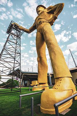 Photograph - Tulsa Golden Driller Landmark Icon Of Oklahoma by Gregory Ballos