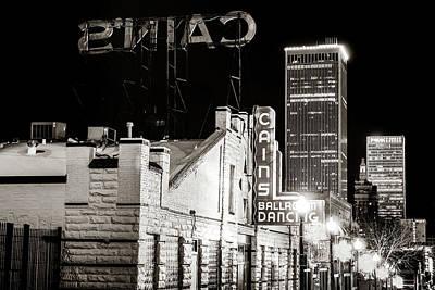 Photograph - Tulsa Skyline From Historic Cain's Ballroom - Classic Sepia by Gregory Ballos