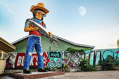 The Who - Tulsa Vintage Space Cowboy Muffler Man by Gregory Ballos