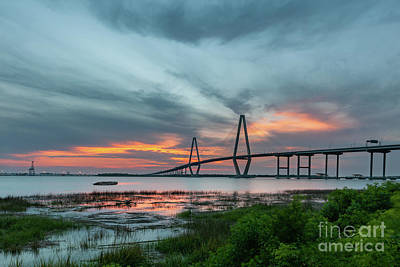 Photograph - Tumultuous Storm Clouds Over Charleston South Carolina by Dale Powell