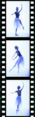 Photograph - Tungsten Film Strip Of A Female Ballet by George Doyle