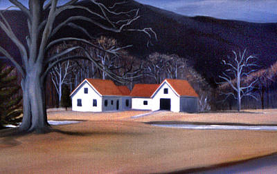 Painting - Tunnel Farmhouse At Rumney Depot New Hampshire by Nancy Griswold