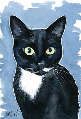 Painting - Turhapuro Tuxedo Cat Painting by Dora Hathazi Mendes