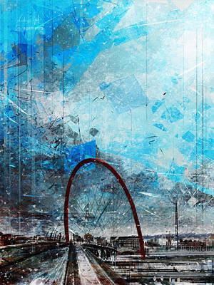 Surrealism Digital Art - Turin Olympic Arch by Andrea Gatti