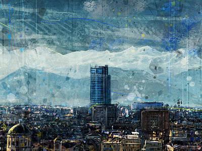 Surrealism Digital Art - Turin skyscraper by Andrea Gatti