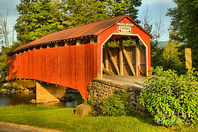 Photograph - Turkey Trail Covered Bridge by Adam Jewell
