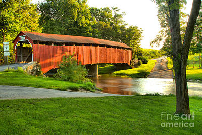 Photograph - Turkey Trail Covered Bridge Over Sherman Creek by Adam Jewell