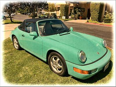 Photograph - Turquoise Carrera Targa Porsche by Floyd Snyder