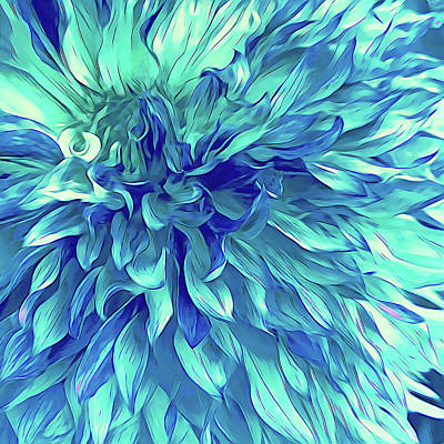 Abstract Digital Art - Turquoise Love  by Cindy Greenstein