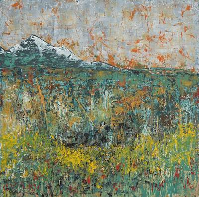 Painting - Turquoise Mountain by Nicole Korbe