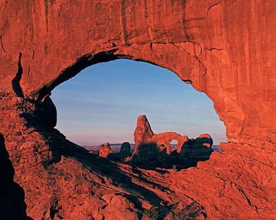 Photograph - Turret Arch Through North Window by Tom Daniel
