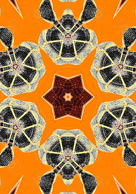 Digital Art - Turtle Abstract Pattern 2 by Artist Dot