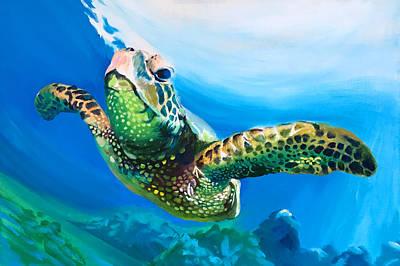 Painting - Turtle by Robert Korhonen