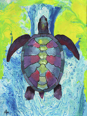 Mixed Media - Turtle Way by David Bader