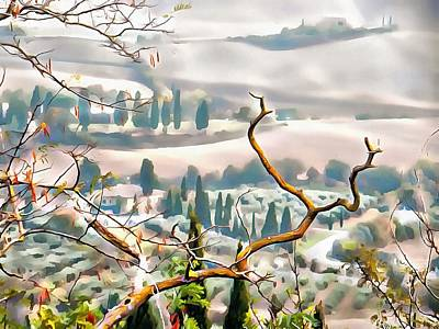 Photograph - Tuscan Autumn Landscape by Dorothy Berry-Lound