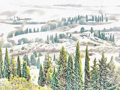 Photograph - Tuscan Countryside Near Pienza by Dorothy Berry-Lound