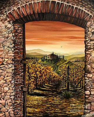 Painting - Tuscan Hilltop Val D'orcia by Art By Three Sarah Rebekah Rachel White