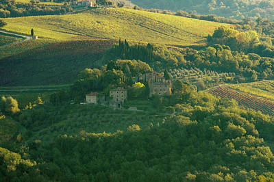 Photograph - Tuscan Home On The Hillside by Mark Duehmig