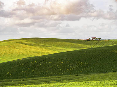 Photograph - Tuscan Landscapes. Hills in the spring by Giovanni Bertagna