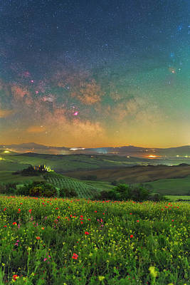 Photograph - Tuscan Nights by Ralf Rohner