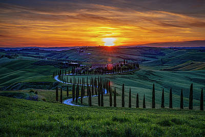 Photograph - Tuscan Sunset by Chris Lord