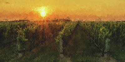 Fine Dining - Tuscany vineyards - 17 by AM FineArtPrints