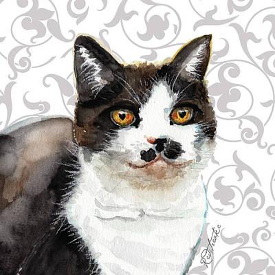 Painting - Tuxedo Cat by Jennifer Redstreake