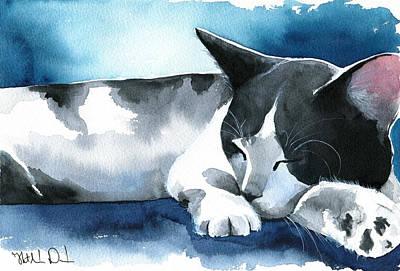 Tuxedo Dream Cat Painting Original