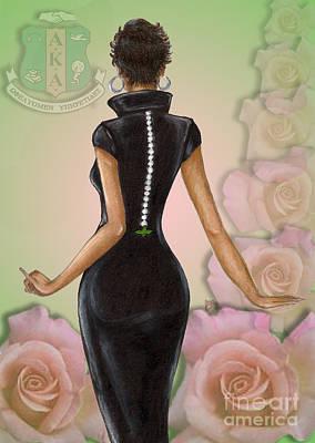 Greek Wall Art - Digital Art - Twenty Pearls N Pink Roses by BFly Designs