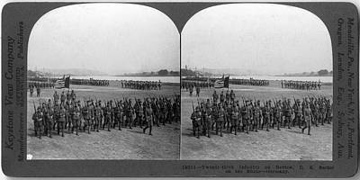 Photograph - Twenty-third Infantry On Review by The New York Historical Society
