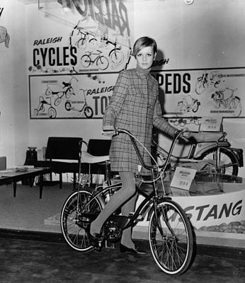 Photograph - Twiggy On A Bike by Keystone
