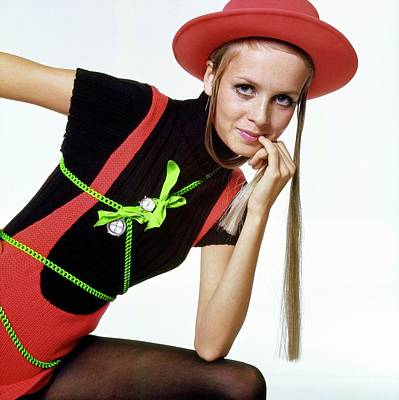 Twiggy With Piaget Watches Art Print by Bert Stern