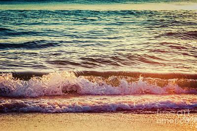 Twilight Delray Beach Atlantic Ocean Waves 4194 Florida  Original