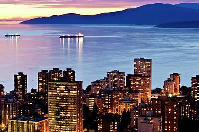 Twilight English Bay Vancouver Original