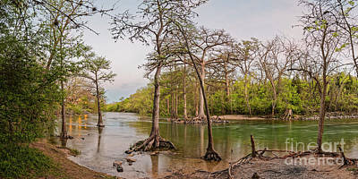Photograph - Twilight Glow Settling On The Guadalupe River At Canyon Lake - New Braunfels Texas Hill Country by Silvio Ligutti