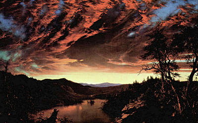 Painting - Twilight In The Wilderness  by Frederic Edgar Church