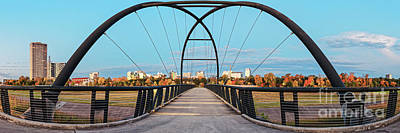 Photograph - Twilight Panorama Of Bill Coats Bridge Over Brays Bayou - City Of Houston Texas Medical Center by Silvio Ligutti
