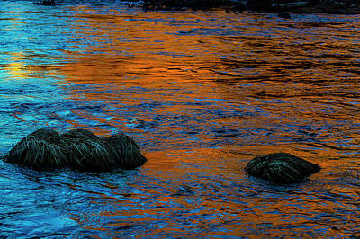 Photograph - Twilight River by Garry Gay