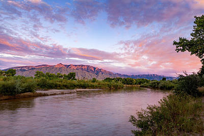 Photograph - Twilight Skies over the Rio Grande by Howard Holley