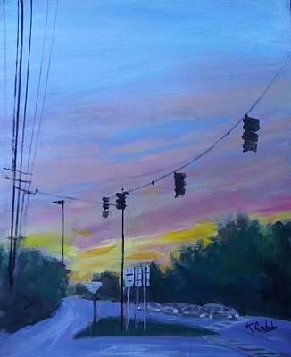 Painting - Twilight Traffic by Katherine Cobb