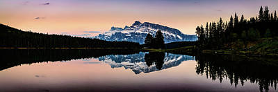 Photograph - Twilight, Two Jack Lake by Peter OReilly