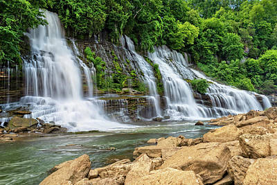 Photograph - Twin Falls In Rock Island State Park by Jim Vallee