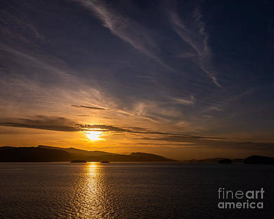 Photograph - Twin Islands Sunset by Alma Danison