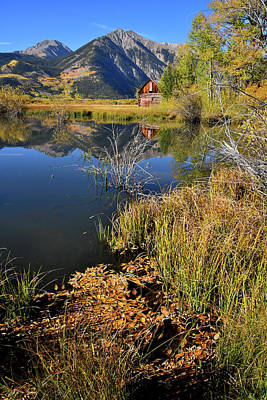 Photograph - Twin Lakes Reflection In Colorado by Ray Mathis