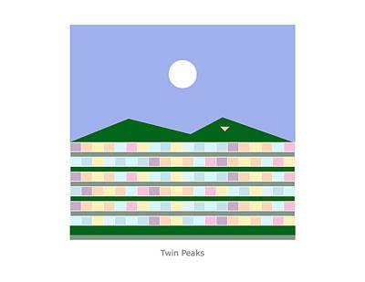 Digital Art - Twin Peaks by John Steven Calder