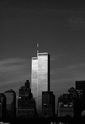 Photograph - Twin Towers #1, 1999 by Chris Hunt