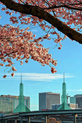 Photograph - Twin Towers In Spring by Wes and Dotty Weber