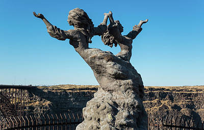 Photograph - Twins Dancing On A Cliff by Tom Cochran