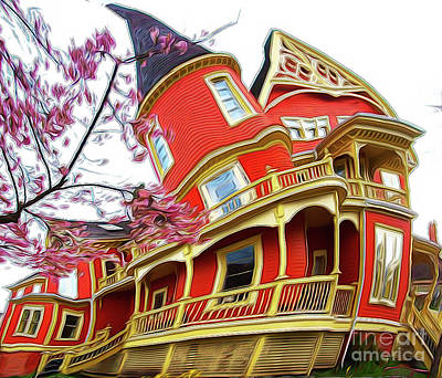 Digital Art - Twisted Colonial by Sue Harper